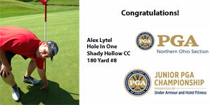 Alex Lytel Hole In One Pic For News Story