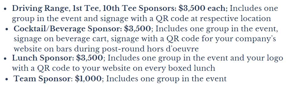 ohio open pro am sponsorship opportunities