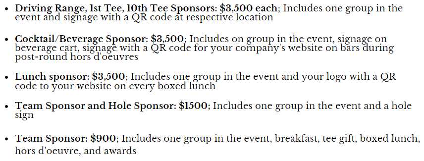 sponsorship opportunities kenny novak